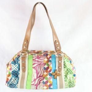 Relic Multi color Canvas Shoulder Bag